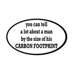 The Size Of His Carbon Footprint Oval Car Magnet