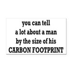 The Size Of His Carbon Footprint Rectangle Car Mag