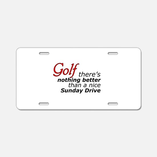 Golf Sunday Drive Aluminum License Plate