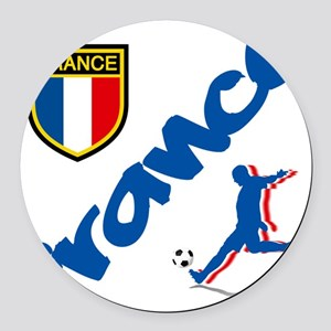 France World Cup Soccer Round Car Magnet
