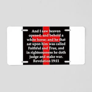 Revelation 19-11 Aluminum License Plate
