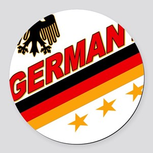 germany a Round Car Magnet