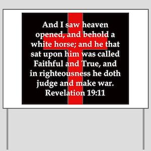 Revelation 19-11 Yard Sign