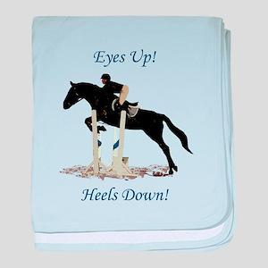 Eyes Up! Heels Down! Horse baby blanket