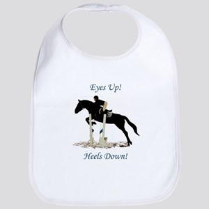 Eyes Up! Heels Down! Horse Bib