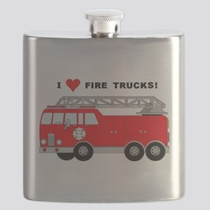 I Heart Fire Trucks! Flask