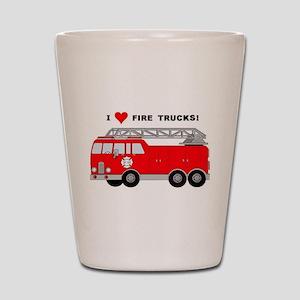 I Heart Fire Trucks! Shot Glass