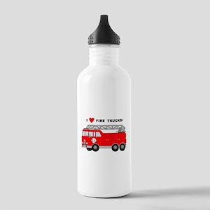 I Heart Fire Trucks! Stainless Water Bottle 1.0L