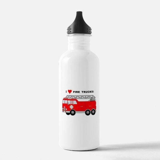 I Heart Fire Trucks! Water Bottle