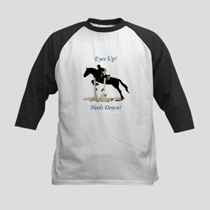 Eyes Up! Heels Down! Horse Kids Baseball Jersey