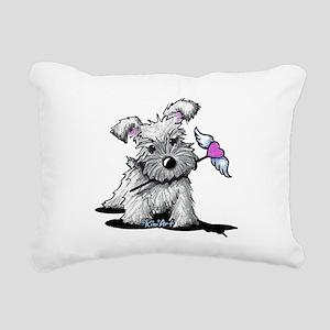 KiniArt Schnauzer Heart Rectangular Canvas Pillow