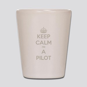 Keep Calm Pilot Shot Glass
