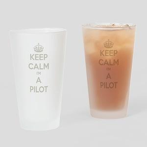 Keep Calm Pilot Drinking Glass