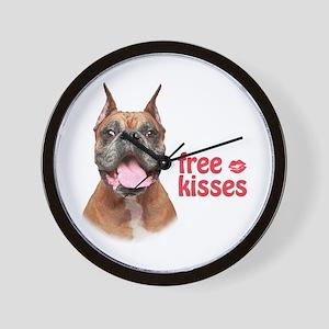 Free Kisses Wall Clock