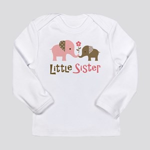 Little Sister - Mod Elephant Long Sleeve T-Shirt