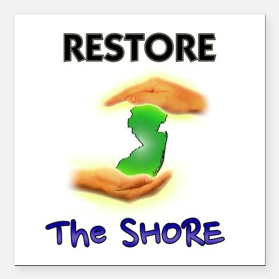 Hurricane Sandy Restore Jersey T-Shirt Square Car