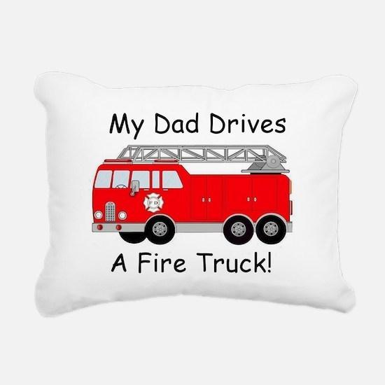 My Dad Drives A Fire Truck Rectangular Canvas Pill