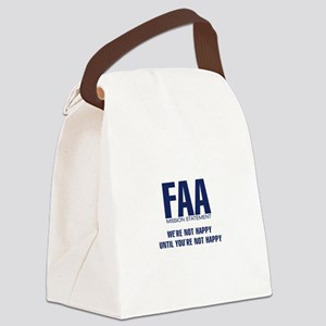 FAA-MissionStatement Canvas Lunch Bag