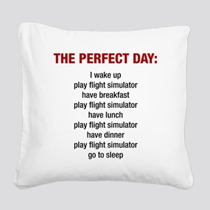 Perfect Day Square Canvas Pillow