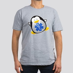 Penguin EMT Men's Fitted T-Shirt (dark)