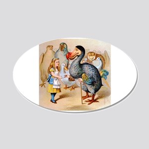 Alice and the Dodo Bird 20x12 Oval Wall Decal