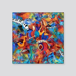 "Jazz Musicians Blues Band Square Sticker 3"" x 3"""