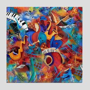 Jazz Musicians Blues Band Tile Coaster