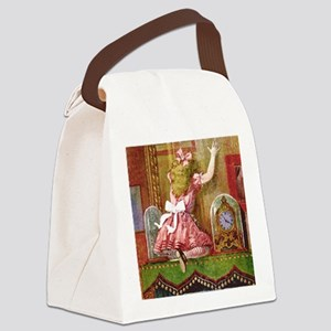 Alice Through The Looking Glass Canvas Lunch Bag