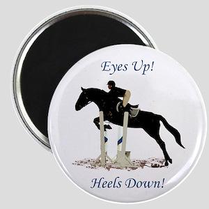 Eyes Up! Heels Down! Horse Magnet