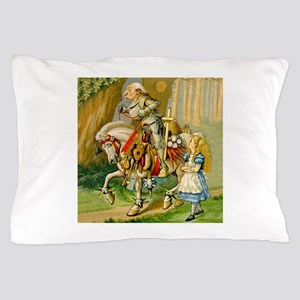 Alice Meets The White Knight Pillow Case
