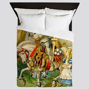 Alice Meets The White Knight Queen Duvet