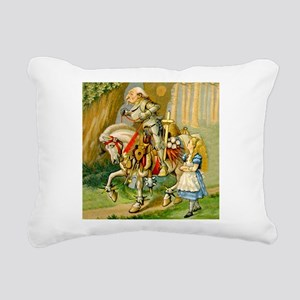 Alice Meets The White Knight Rectangular Canvas Pi