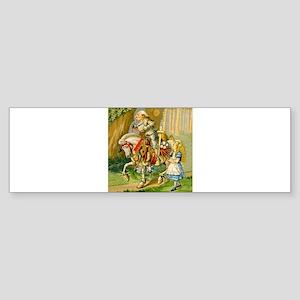 Alice Meets The White Knight Sticker (Bumper)