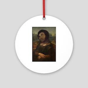 restored Mona Lisa Ornament (Round)