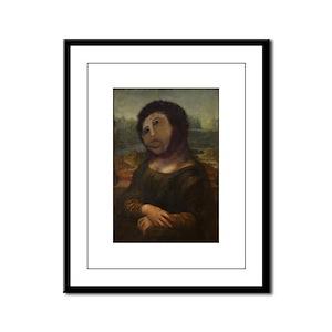 restored Mona Lisa Framed Panel Print