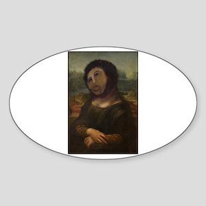 restored Mona Lisa Sticker (Oval)