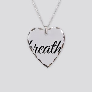 breathe Necklace Heart Charm