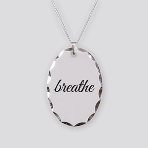 breathe Necklace Oval Charm