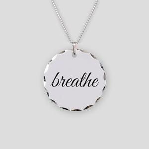 breathe Necklace Circle Charm