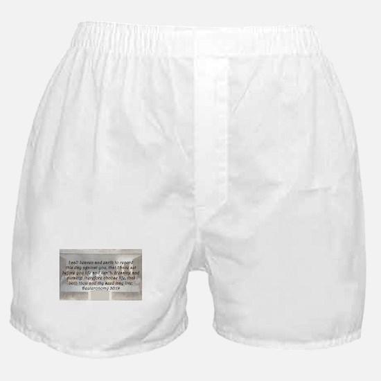 Deuteronomy 30:19 Boxer Shorts