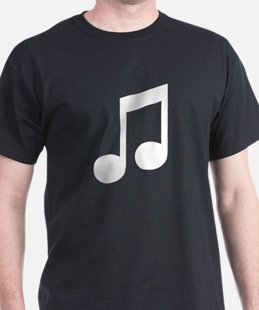 Double Eighth Note Black T-Shirt