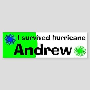 Hurricane Andrew Bumper Sticker