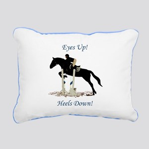Eyes Up! Heels Down! Horse Rectangular Canvas Pill