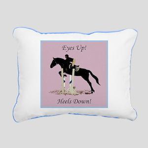 Eyes Up! Heels Down! Horse Rectangular Canvas Pill