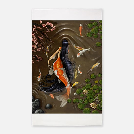 Koi Mermaid 3'x5' Area Rug