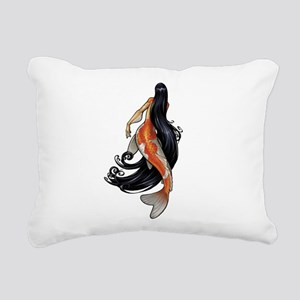 Koi Mermaid Rectangular Canvas Pillow