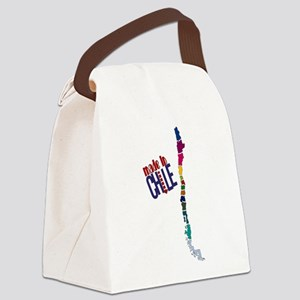 ChileMap Canvas Lunch Bag