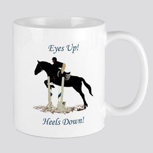Eyes Up! Heels Down! Horse Mug