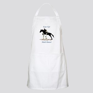 Eyes Up! Heels Down! Horse Apron