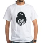 Geisha Cat White T-Shirt